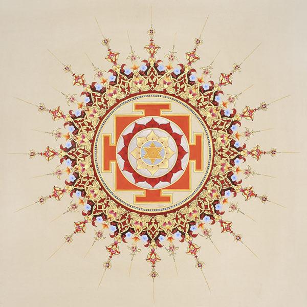 Yantra Słońca, Surya Yantra, złocona wzór